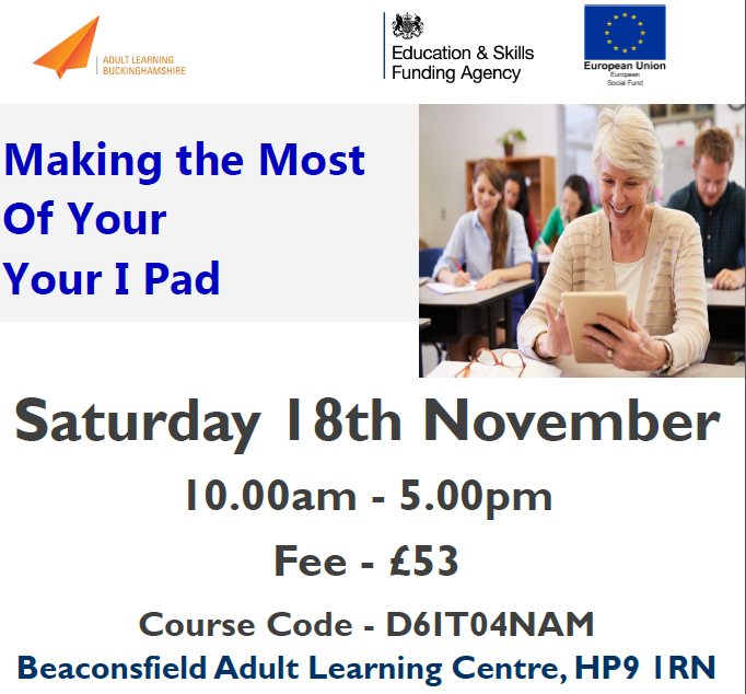 ... Beaconsfield Adult Learning Centre, HP9 1RN Saturday November 18th  2017. For more details click HERE